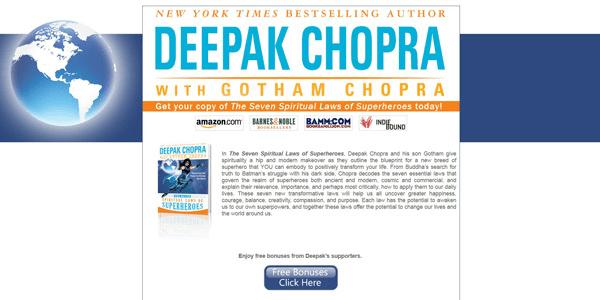 Deepak Chopra Superheroes